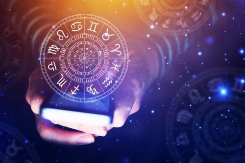 スマホに浮き出ている占星術の紋章