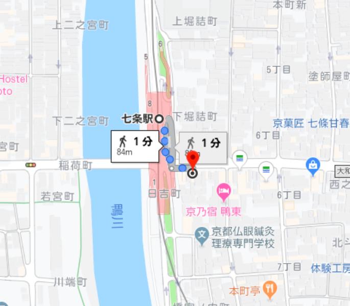 京都の占い処Key&Doorの地図