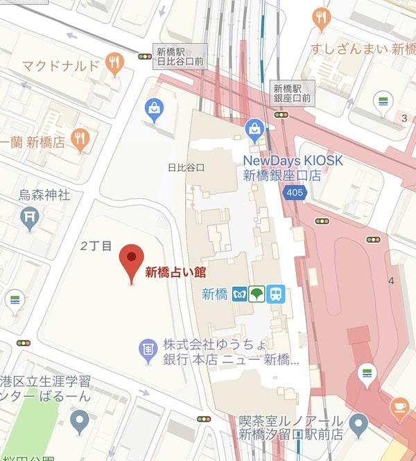 新橋の地図