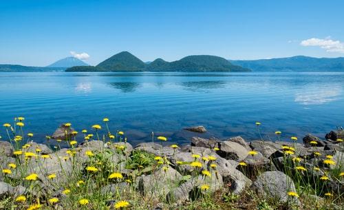 洞爺湖の中島