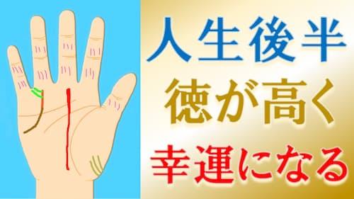 占い館セレーネYouTubeチャンネルで水森太陽の人生後半徳が高くて幸せになる手相動画が公開!